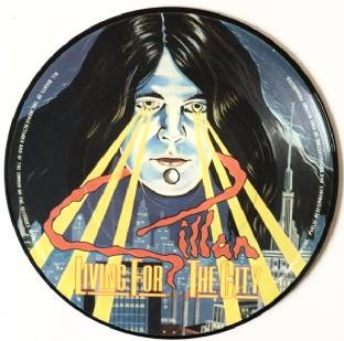 "Gillan ‎- Living For The City (7"") (Picture Disc) (VG/NM)"